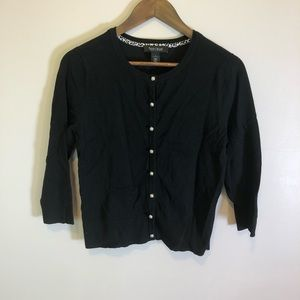 White House Black Market Cardigan w/ Pearl Buttons